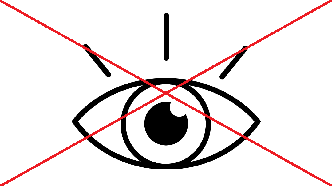 Crossed out eye icon.