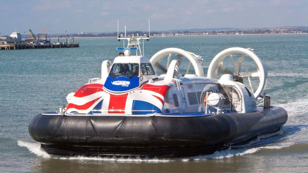 Completed hovercraft.